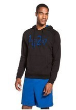Lacoste Pullover Hooded Fleece With Chest Logo Black /Night Blue Size L ... - $79.11