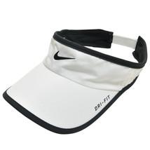 NEW! RARE White NIKE Men-Women Tennis/Golf Visor DRI-FIT Runner FEATHERL... - $282.04