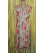 My Michelle Sz 16 Long Polyester Chiffon Flower... - $18.99