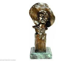"""""""The Sergeant"""" Solid Bronze Sculpture Statue by Frederic Remington Free ... - $373.75"""