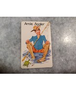 "Old Maid ""Arnie Angler"" Swap Card Replacement Card ~ Vintage Whitman  EXC - $5.00"