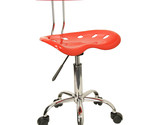 Flash Furniture Vibrant Red and Chrome Computer Task Chair with Tractor Seat