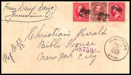 "1897 REGISTERED Jamestown, OH Vintage/New York City Station ""D"" DPO Cover - $9.95"