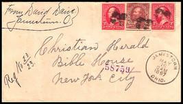"1897 REGISTERED Jamestown, OH Vintage/New York City Station ""D"" DPO Cover - $9.95"