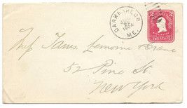 1904 Dark Harbor, ME Discontinued/Defunct Post Office (DPO) Postal Cover - $9.95