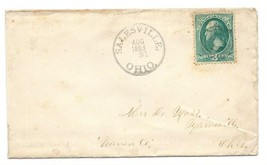 1883 Salesville, OH/Fosters Crossings, OH Discontinued/DPO Postal Cover - $9.95