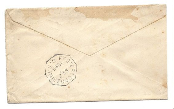 1883 Salesville, OH/Fosters Crossings, OH Discontinued/DPO Postal Cover