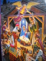 Masterpieces Jigsaw Puzzle Season's Greetings Holy Night William Ternay ... - $8.99