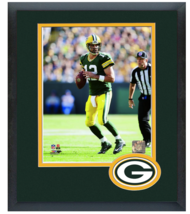Aaron Rodgers 2014 Green Bay Packers - 11 x 14 Team Logo Matted/Framed Photo - $43.55