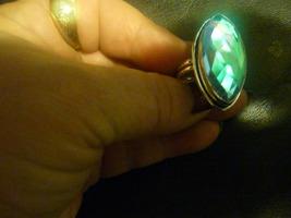 Haunted Male Arabian Jinn Blue Stone Silver Ring Size 7.5 - $49.99