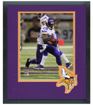 Adrian Peterson 2014 Minnesoat Viking -11x14 Team Logo Matted/Framed Photo - $43.95