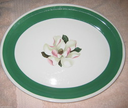 Syracuse China Magnolia Floral Green Platter Oval HTF Vtg 1950 Restauran... - $9.99