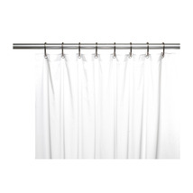 Shower Stall-Sized, 8 Gauge Vinyl Shower Curtain Liner in White 1301-SC-... - $28.78