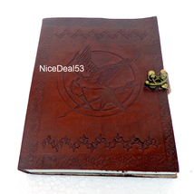 Leather Journal Leather Diary Leather Notebook C Lock - Fire Bird with A... - $49.99