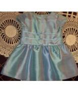 Gymboree Size 6-12 Months 100% Silk Blue Pattern Holiday Portrait Dress  - $14.99