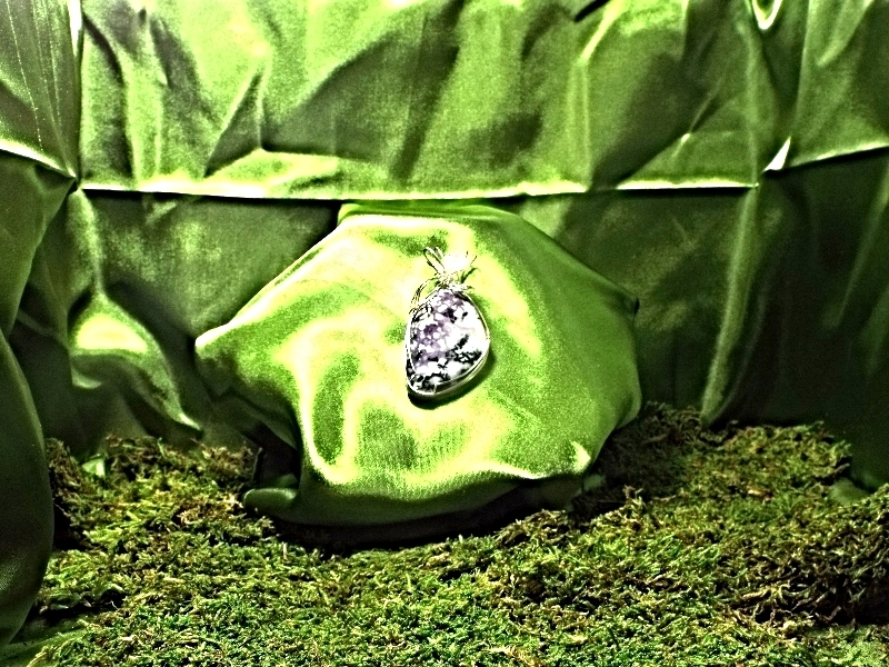 Jewelry By Two Gems (Wp36) Sterling Silver Wire Wrap Pendant w Tiffany Stone
