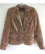 NWT Crushed velvet blazer 8 Honey brown Fawn Pa... - $47.99
