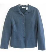 New Wool knit jacket Heather blue 10 NWT Lord &... - $49.99