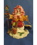 Holiday Girl Snowman Figurine with Birdhouse - $11.95