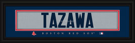 Junichi Tazawa Boston Red Sox Player Stitched Jersey 8 x 24 Framed Print - $39.95