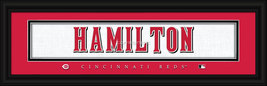 Billy Hamilton Cincinnati Reds Player Stitched Jersey 8 x 24 Framed Print - $39.95