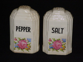 Art Deco Building Salt and Pepper Shakers Circa 1980s - $9.50