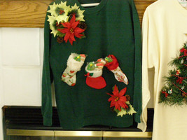 Ugly Christmas Sweater (Sweatshirt) Small wore once tag your it - $34.95