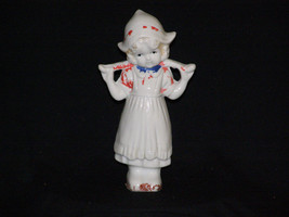 """Vintage Dutch Girl with Hat and Water Bar 7"""" T Soft on Paint - $8.30"""