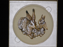 Goebel 1975 First Edition Mother's Series Plate Rabbit with Babies New in Box - $11.30
