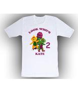 Barney & Friends Personalized White Birthday Shirt - $14.99