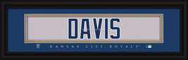 Wade Davis Kansas City Royals Player Stitched Jersey 8 x 24 Framed Print - $39.95