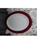 Pampered Chef Oval Platter w/Cranberry Accent  #2059 Retired NWOB - $75.00