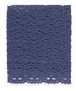 Parisienne Blue Jumbo Crochet Trim 2 meters cross stitch accessory Paper... - $5.00