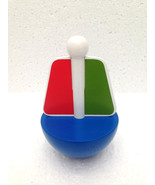 Wooden Chime Boat Rattle Toy Rocking Boat Tumbler Boat Toy For Baby Blue... - $9.99