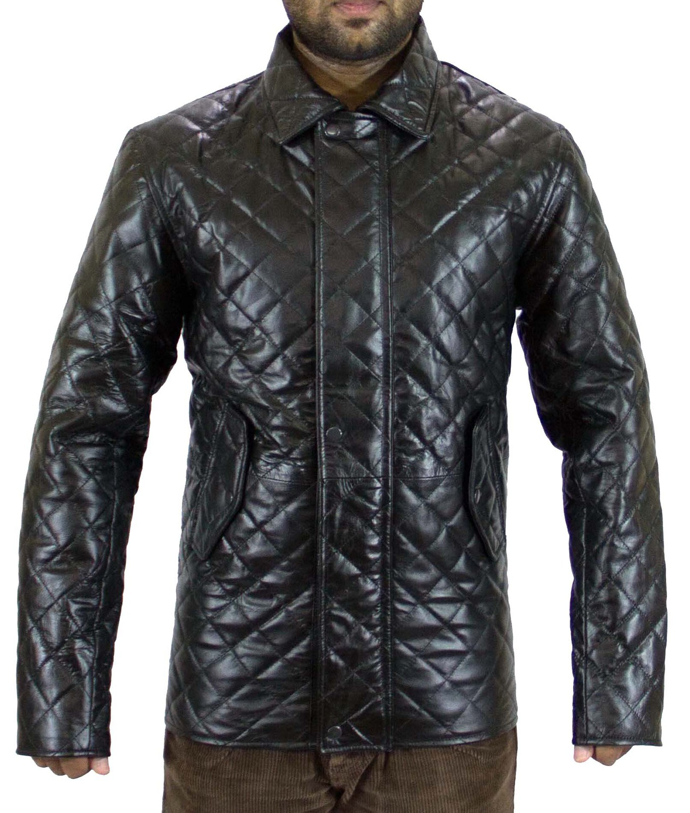 A classic leather jacket you'll want in your closet forever! It has a center front zipper and three front zipper pockets. The quilting on the sleeves and sides of this jacket are the stand-out special detail that makes this style truly unique.