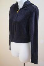 Aeropostale Juniors L Black Sweatshirt Velour Zip Up Hoodie Long Sleeve ... - $10.76