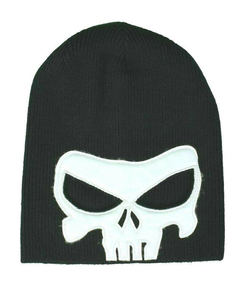 Fi-Hi Wanted Alter Ego Black & White Mask Skull Skeleton Beanie