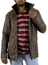 Handmade New Men Stylish Soft Leather Jacket with dual Closure Front. Me... - $169.00