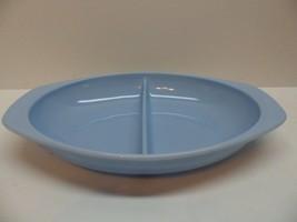 Pyrex Blue Delphite Divided 1.5 qt Casserole Dish #1063 Vintage - $12.17