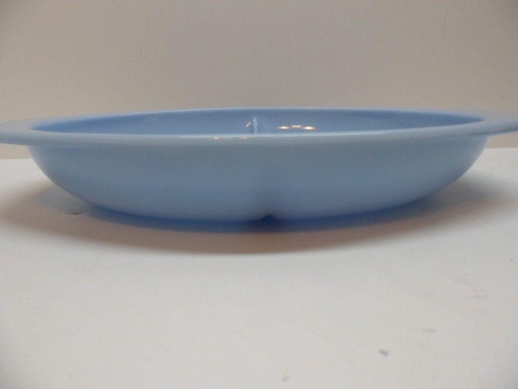 Pyrex Blue Delphite Divided 1.5 qt Casserole Dish #1063 Vintage