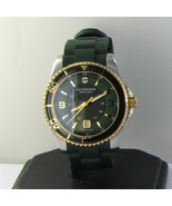 Victorinox Swiss Army 241606 Maverick GS Gold Green Rubber Mens Watch Ne... - $357.69
