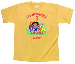 Dora the Explorer Personalized Yellow Birthday Shirt - $16.99+