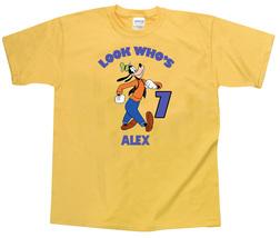 Goofy Personalized Yellow Birthday Shirt - $16.99+