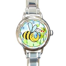 Ladies Round Italian Charm Bracelet Watch Bumble Bee Gift model 30159367 - $11.99
