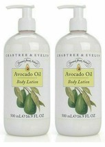 Lot of 2 x Crabtree & Evelyn Avocado Oil Body Lotion 16.9 fl oz 500 ml - $42.08