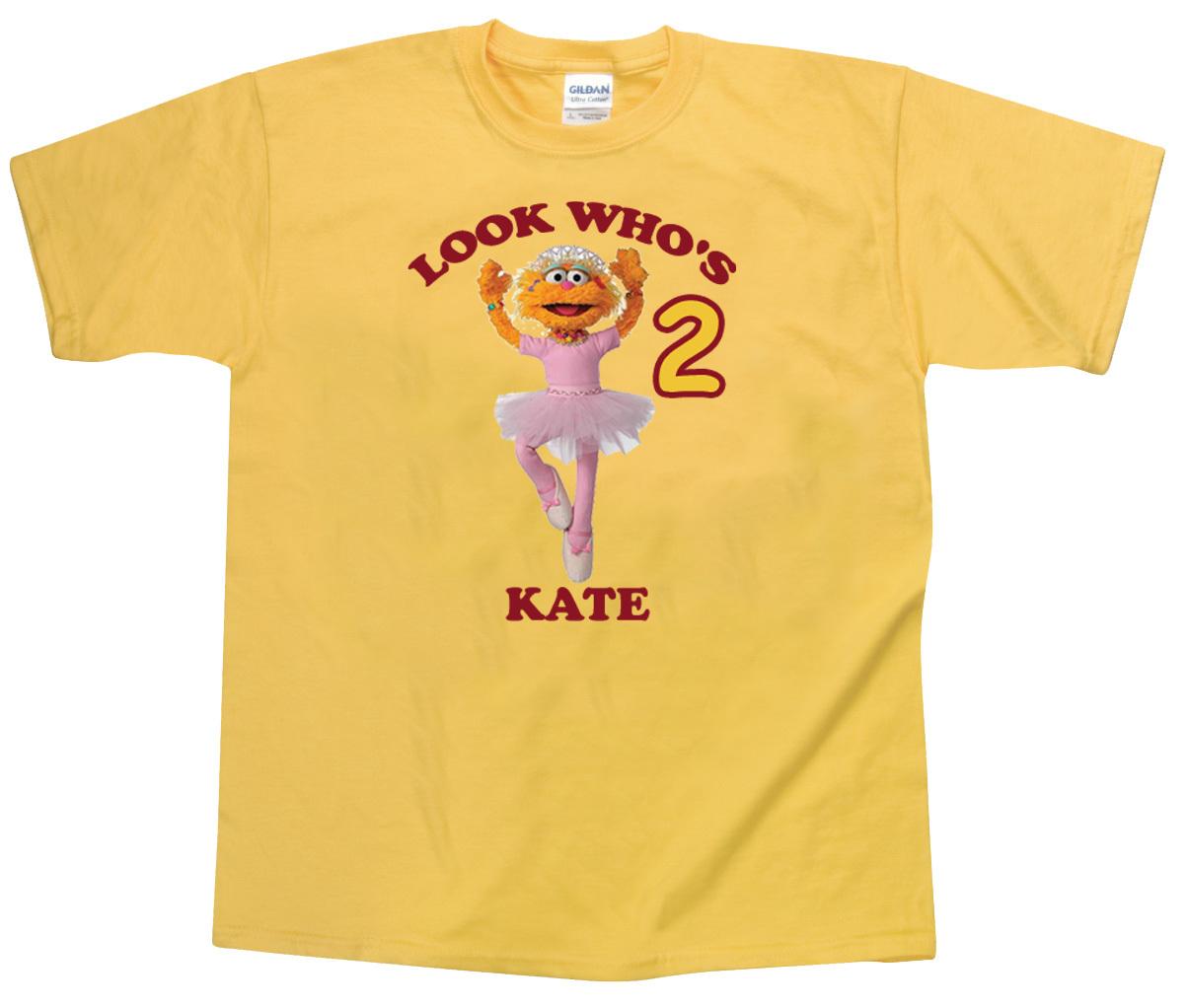 Sesame Street Zoe Birthday Personalized Yellow Birthday