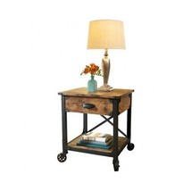 Vintage Home Side End Table Antique Rustic Country Bedside Wood Wooden F... - $95.53