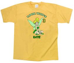 Tinkerbell Personalized Yellow Birthday Shirt - $16.99+