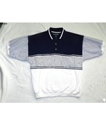 Van Heusen White & Blue Men's  Polo Shirt SZ XL - $14.99