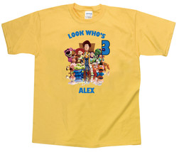Toy Story Personalized Yellow Birthday Shirt - $16.99+